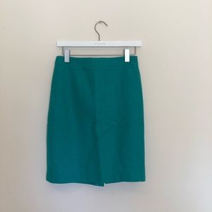 """J Crew Turquoise """"The Pencil Skirt"""" 00"""